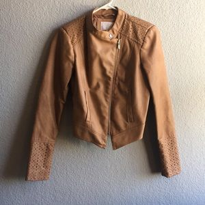 Fitted Moto Jacket with Lovely Detailing Sz M